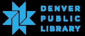 DenverPubLibraryLogoHorizontalBlue